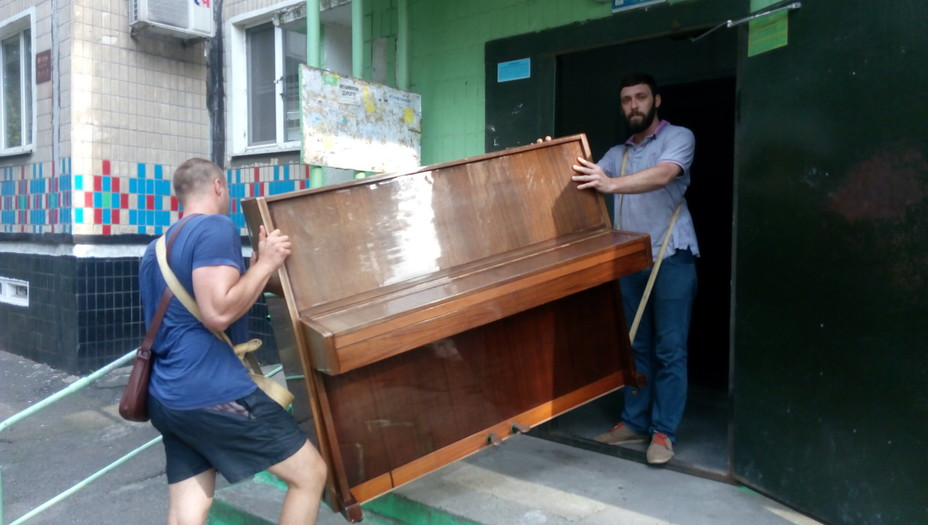как перевезти пианино фото